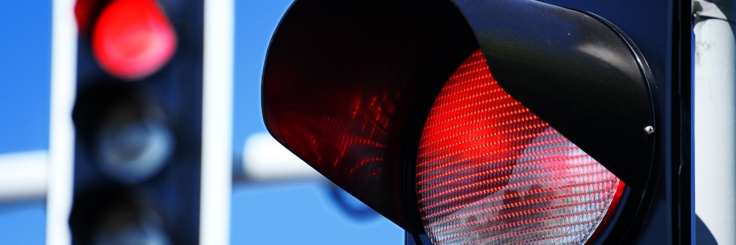 failure to stop at flashing red ticket cost